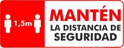 Mantén la distancia de seguridad en MULTIPAPEL MAKRO PAPER ILLESCAS