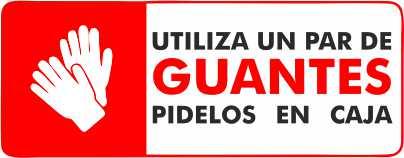 Usa Guantes si no los tienen puede pedirlos desechables en el mostrador de MULTIPAPEL MAKRO PAPER ILLESCAS