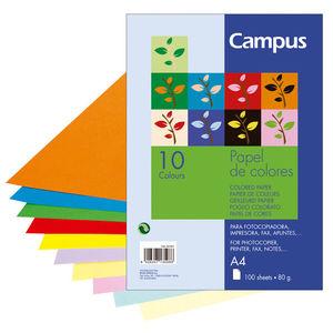 CAMPUS PAPEL CAMPUS A4 80GR 100H 10 COLORES. 0015907 MAK001001