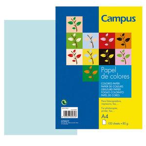 CAMPUS PAPEL CAMPUS A4 80GR 100H AZUL CIELO IT180 A4/100 MAK001002