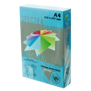 PLUS OFFICE PAPEL SPECTRA A4 80GR 500H AZUL TURQ. IT220 A4/500 MAK001016