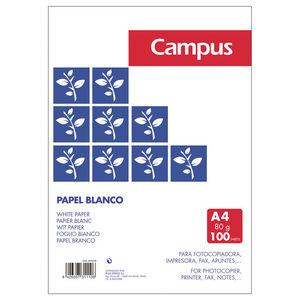 CAMPUS PAPEL CAMPUS A4 80GR 100H BLANCO 001019-0- MAK001019