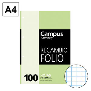 CAMPUS RECAMBIO Fº 100H 60GR MULTITAL.CN4MM 001125-63- MAK001125