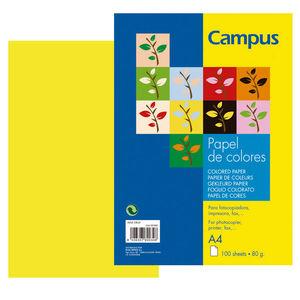 CAMPUS PAPEL CAMPUS A4 80GR 100H AMARILLO IT160 A4/100 MAK001160