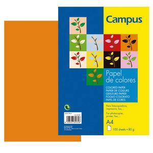 CAMPUS PAPEL CAMPUS A4 80GR 100H NARANJA IT240 A4/100 MAK001162