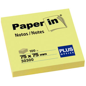 CAMPUS NOTA ADH.PAPER-IN 75X75 100H AMARILLO 30300 MAK001206