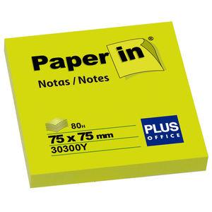 CAMPUS NOTA ADH.PAPER-IN 75X75 80H AMAR.NEON 30300Y MAK001208
