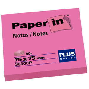 CAMPUS NOTA ADH.PAPER-IN 75X75 80H ROSA NEON 30300P MAK001210