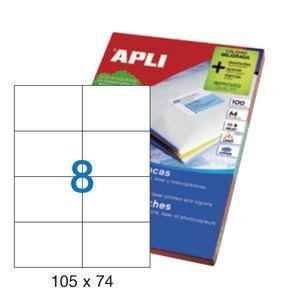 APLI ETIQUETAS APLI A4 105X74 100H 01279 MAK001263