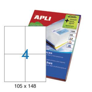 APLI ETIQUETAS APLI A4 105X148 100H 1280 MAK001264