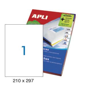 APLI ETIQUETAS APLI A4 210X297 100H 1281 MAK001265
