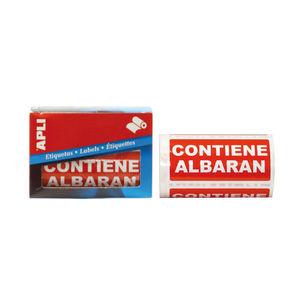 APLI ETIQUETAS ROLLO APLI ALBARAN/200U 00295 MAK001273