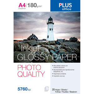 CAMPUS PAPEL PHOTO PLUS A4 GLOSSY 180G 20H GP790987 MAK001646