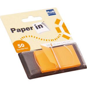 CAMPUS BANDERITAS PAPER-IN 25X45 NARANJA 50U 45547O MAK001651