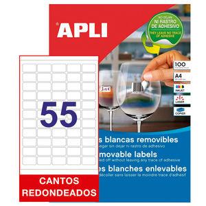 APLI ETIQUETAS APLI A4 36,8X23,8 REMV.100H 03051 MAK002068