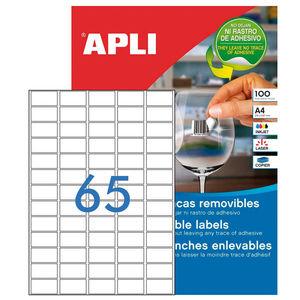 APLI ETIQUETAS APLI A4 38X21,2 REMV.100H 03052 MAK002069