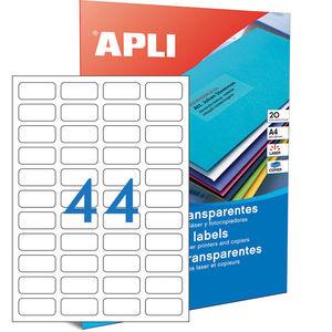 APLI ETIQUETAS APLI A4 48,5X25,4 TRANS.20H 1223 MAK002081