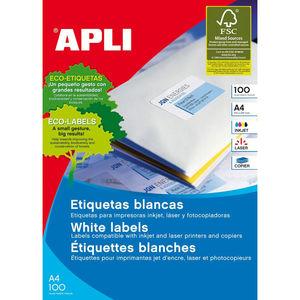 APLI ETIQUETAS APLI 38X21,2 C/RECTO 25H 01209 MAK002092