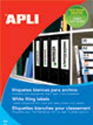 APLI ETIQUETA ADHES APLI A4 190X61 P25 01233 MAK002099