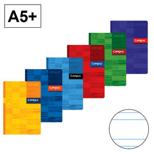 CAMPUS LIBRETA A5+ GRAPADA 48H 90GR PT 2,5MM 002206 MAK002206