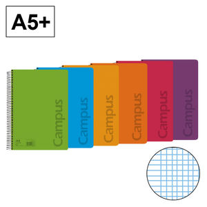 CAMPUS BLOC A5+ 80/H T.PP 90GR MM COLORES 002435 MAK002435