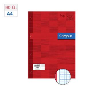 CAMPUS RECAMBIO A4 80H 90G 4T.CN5 TAPA ROJA ROJO MAK002831