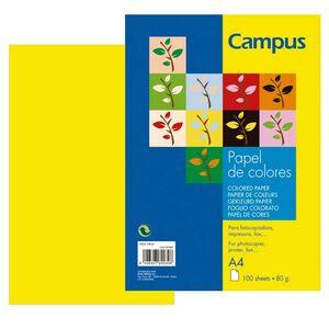 PAPEL CAMPUS A4 80GR 100H NARANJA NEON 002892