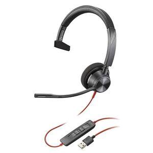 AURICULAR PLANTRONICS BLACKWIRE 3310 DIADEMA MONOAURAL CABLE USB-A CON MICROFONO