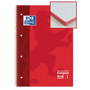 OXFORD BLOC OXFORD A4+ 80H T.EXTD CN5MM ROJO 100430198/024 MAK029110