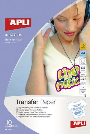 APLI PAPEL APLI A4 TRANSFER TEJID.BLAN.10H 04128 MAK029995
