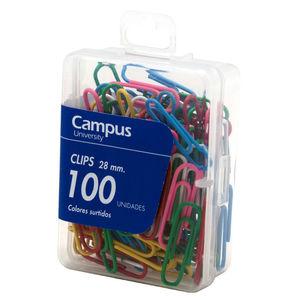 CAMPUS CLIPS COLORES CAMPUS 28MM /100UD 407534 MAK040170