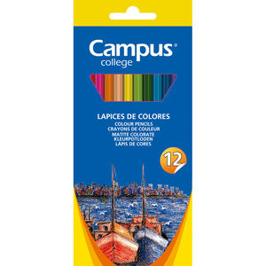 CAMPUS LAPICES COLORES CAMPUS HEXAGON.12COL MKP9201-12CB MAK080564