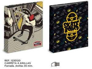 CARPETA A4 4A. 35 MM SKATERS   1230120