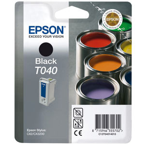CARTUCHO EPSON T040 NEGRO * C13T04014010 MAK130319
