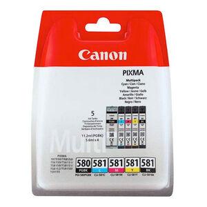 CARTUCHO CANON PGI-580/1 BK/C/M/Y PK5 2078C006 MAK165611