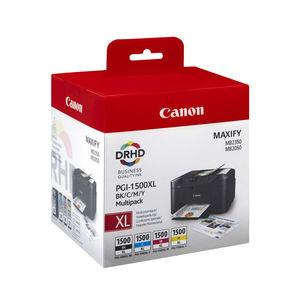 CARTUCHO CANON 1500XL BK/C/M/Y /PACK4 9182B004 MAK165967