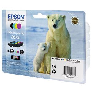 CARTUCHO EPSON 26XL PACK 4UD MULTICOL C13T26364010 MAK166043