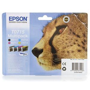 CARTUCHO EPSON T0715 PACK4 * C13T07154020 MAK167383