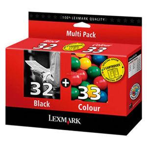 CARTUCHO LEXMARK 32+33 COLOR PACK2 * 80D2951 MAK167443