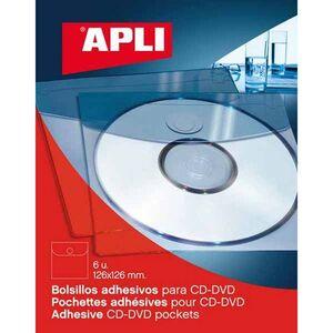 APLI FUNDA CD APLI ADHESIVA 6 UDS 02585 02585 MAK175093