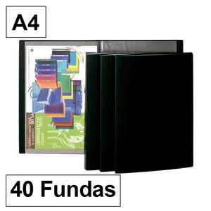 CAMPUS CARPETA FUNDAS PLUS A4 40F NEGRO 240 MAK180228