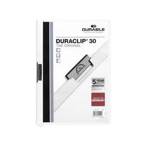EDDING DOSSIER DURABLE A4 DURACLIP 30H BLANC 2200 BLANCO MAK180252