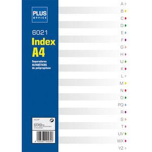 CAMPUS SEPARADORES PLUS A4 PP ALFABET.21PEST HJ-21P MAK180445