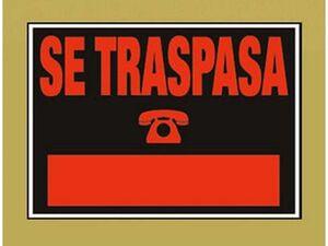 ARCHIVO 2000 CARTEL SE TRASPASA 35X25 202 6183 MAK215259