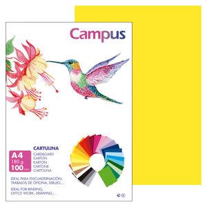 CAMPUS CARTULINA CAMPUS A4 180G A.CANAR/100U 601391 MAK220143
