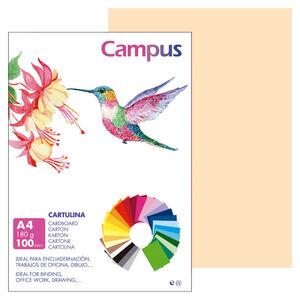 CAMPUS CARTULINA CAMPUS A4 180G CREMA/100U 601495 MAK220147