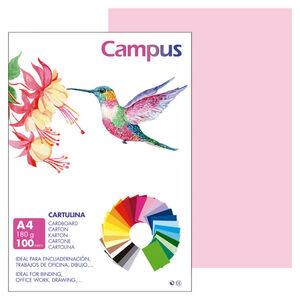 CAMPUS CARTULINA CAMPUS A4 180G ROSA/100U 601467 MAK220152