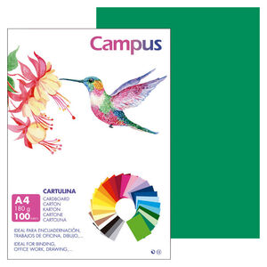 CAMPUS CARTULINA CAMPUS A4 180G V.PINO/100U 0015019 MAK220155