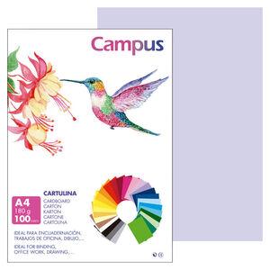 CAMPUS CARTULINA CAMPUS A4 180G LILA/100U 001177112 MAK220420