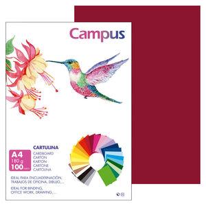 CAMPUS CARTULINA CAMPUS A4 180G GRANATE/100U 0019738 MAK220424